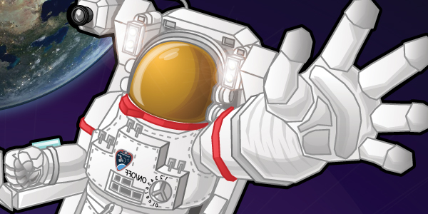 Space Suit Hero - Press tab then enter to visit page
